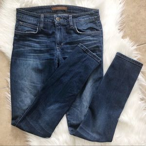 Joe's Valencia mid-rise medium wash skinny jeans